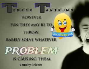 temper problem quote image