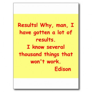 Thomas Edison quote Postcard