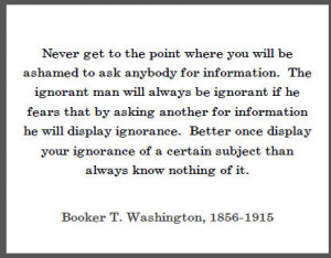 Booker T. Washington Quote on Education