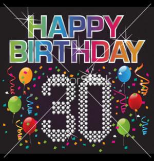 Happy 30th birthday vector
