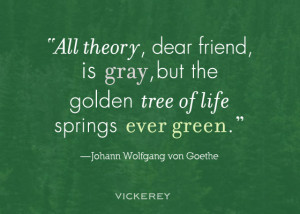All theory, dear friend, is gray, but the golden tree of life springs ...