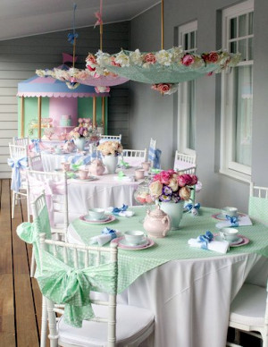 Mary Poppins little girl tea party – adorable