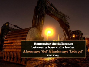 Motivational wallpaper Difference between a Boss and a Leader