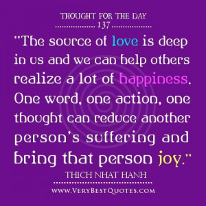 ... happiness thought of the day on love happiness quotes thich nhat hanh