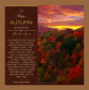 Autumn, Fall, Autumn Quote by Hal Borland, October, Autumn Leaves