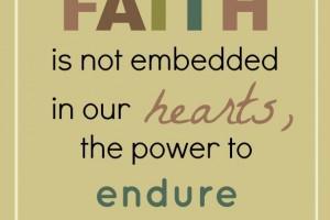 Having a Foundation of Faith {free printable}