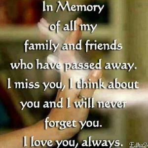 In memory of loved ones.