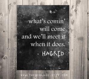 Hagrid quote - Harry Potter - literature - book - typography - black ...