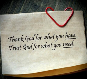 Thank God for everything! And I Trust God in anything.