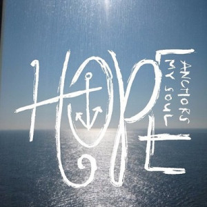 ... tags for this image include: hope, love, anchor, quote and soul