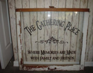 Family wall decal The Gathering Place vinyl lettering wall word Quotes ...
