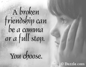 Quote on broken friendship