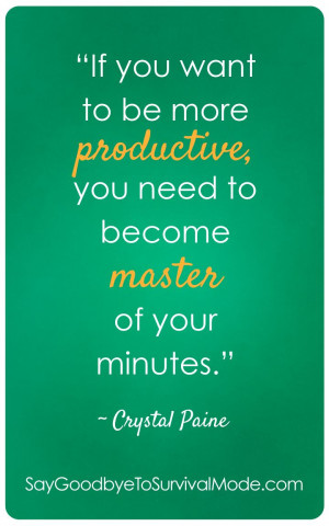 If you want to be more productive, you need to become master of your ...