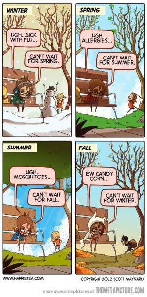 funny seasons winter spring summer fall