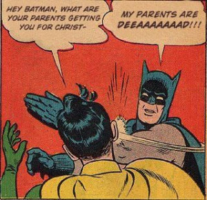 Funny pictures with satire - Batman and Robin.