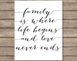 ... Printable - INSTANT DOWNLOAD Printable - home wall decor - family