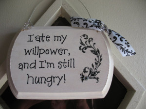 Handmade Willpower Signs Quotes Black and White Wooden