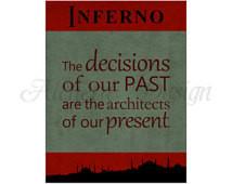 Inferno / Dan Brown / Robert Langdo n Series / Quote Posters - Instant ...