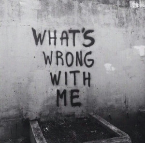 ... and white, depressed, grunge, quote, sad, wall, writing, black&white