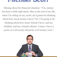 Quote Pictures Michael Scott Quote - The Office - Money