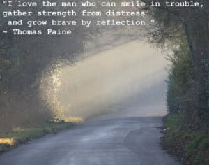 Smile in trouble - famous positive quote