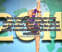 Cheer Flyer Quotes Cheerleading confessions