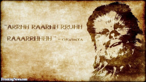 Funny Chewbacca Inspirational Quote