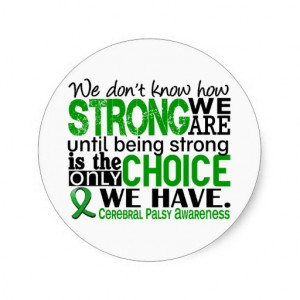 Cerebral Palsy How Strong We Are Stickers