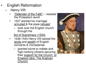 English Reformation and Catholic Counter Reformation.ppt by ...