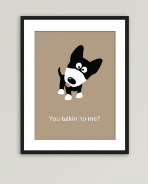 etsy.comFunny Puppy Dog illustration You talkin to me by kiwiartstudio