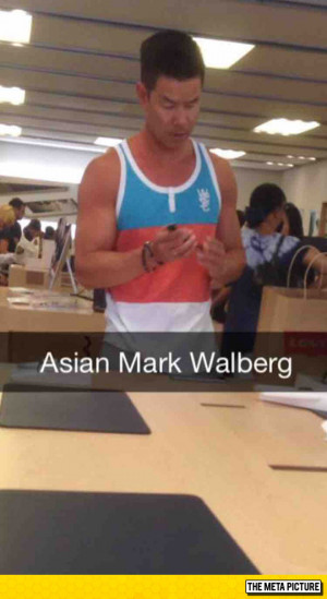 Found Asian Mark Wahlberg At The Apple Store