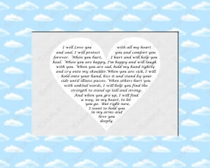 Love Poem for Son Baptism or Christening Gift 8 X 10 Photo