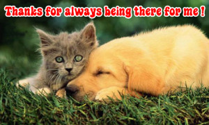 ... for always being there for me thanks for always being there for me