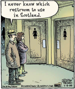 funny, kilt, scotland, skirts, text, toilet