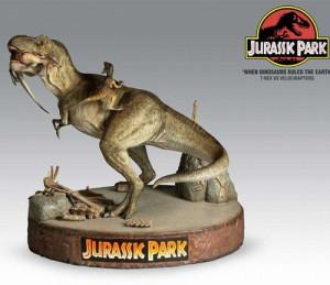 Jurassic Park T Rex vs Velociraptors