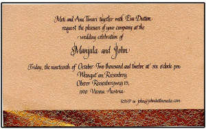 Elegant Custom Wedding Invitation Calligraphy.