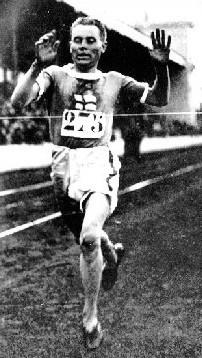 Paavo Nurmi bei den Olympischen Spielen 1920 in Antwerpen