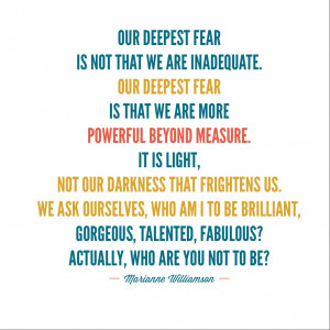 Marianne Williamson quote on fear of success