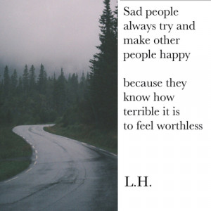 quote tumblr happy depressed depression sad quotes true alone dark ...