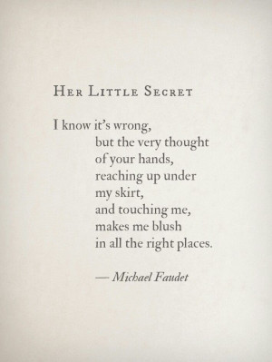 Her little secret...