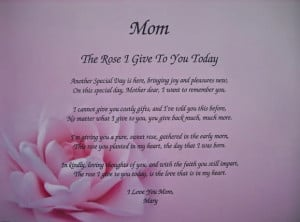 deceased mother birthday poems