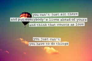 hot air balloon, quote, sky, the perks of being a wallflower