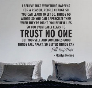 Quotes About Trusting No One Quotes About Trust Issues and Lies In a ...
