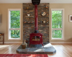 Wood Burning Stove Mantels Design, Pictures, Remodel, Decor and Ideas ...