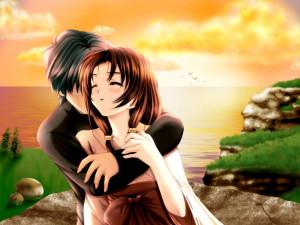 Anime Couple Love Romance HD Wallpaper