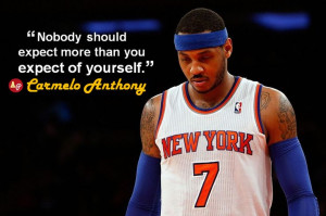 Below is a list of Carmelo Anthony quotes Click on a quote to open an