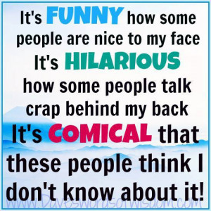 It's FUNNY how some people ...