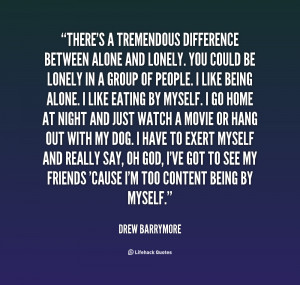 Quotes About Being Single And Lonely Preview quote