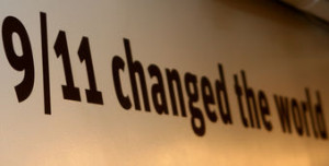 11 changed the world sign from New York 9/11 museum