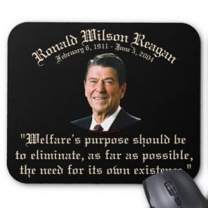 Reagan Welfare Quote Mousepads